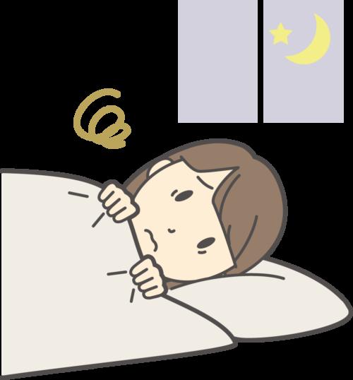 睡眠、睡眠障害、寝具が変わってしまうと眠れなくことがある。